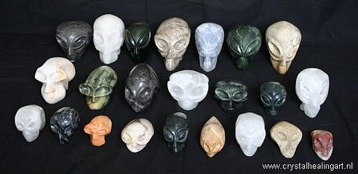 Alien Faces - Alien Crystal Skulls - handmade by Niels Bagchus