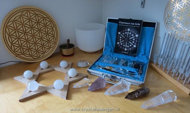 Crystal Healing Art Niels Bagchus heilige geometrie levensbloem flower of life merkaba phi vogel kristal