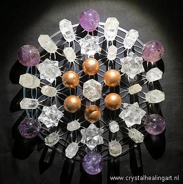 Flower of life crystal healing grid sacred geometry levensbloem heilige geometrie 3