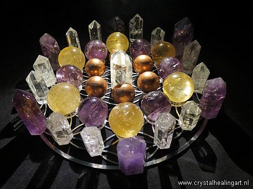 Flower of life crystal healing grid sacred geometry levensbloem heilige geometrie 4