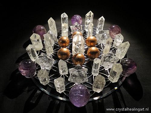 Flower of life crystal healing grid sacred geometry levensbloem heilige geometrie 5