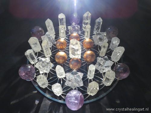 Flower of life crystal healing grid sacred geometry levensbloem heilige geometrie 6