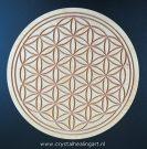 Flower of life healing disk hout levensbloem heilige geometrie sacred geometry wood