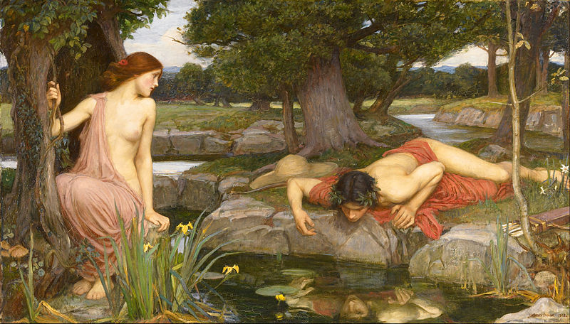 John William Waterhouse - Echo and Narcissus - narcisme - psychopathie