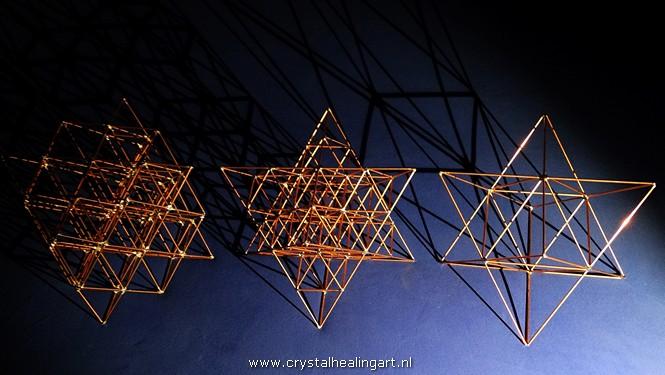 Merkaba 64 tetrahedron grid