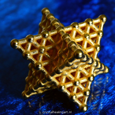 Merkaba matrix 3 merkabah sacred geometry heilige geometrie gold plated bronze goud brons 2