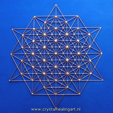 Merkaba matrix 64 tetrahedron grid koper copper crystal healing art