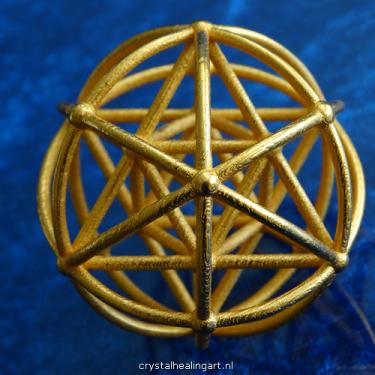 Merkaba sphere globe planet star tetrahedron merkabah sacred geometry heilige geometrie ster tetraeder goud brons gold plated bronze crystal healing art 3