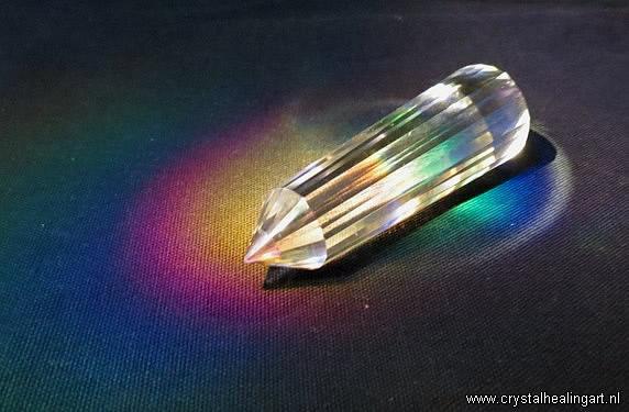 Phi Vogel crystal 24 facet sided kristal 24 zijdig regenboog rainbow healing