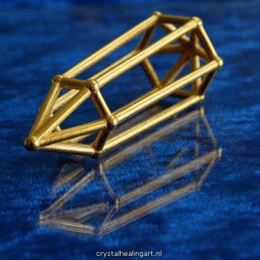 Phi Vogel crystal quartz cut sacred geometry kristal 6 facet sided zijdig 2