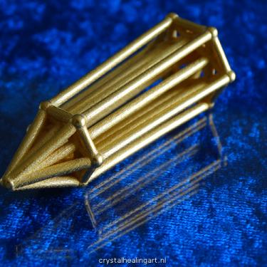 Phi Vogel crystal quartz geometry - sided facet kristal inner geometrie