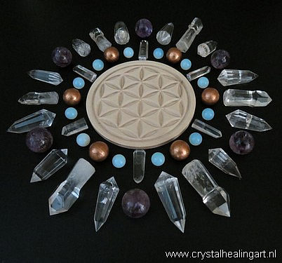 Seed of life flower of life crystal grid healing