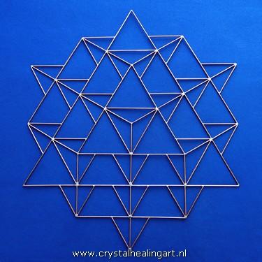 merkaba 64 tetrahedron grid koper copper