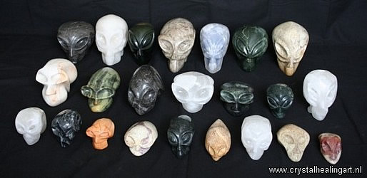 Alien Faces - Alien Crystal Skulls - handmade by Niels Bagchus