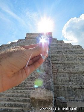 Chichen Itza pyramid Mexico Phi vogel crystal sun light energy healing