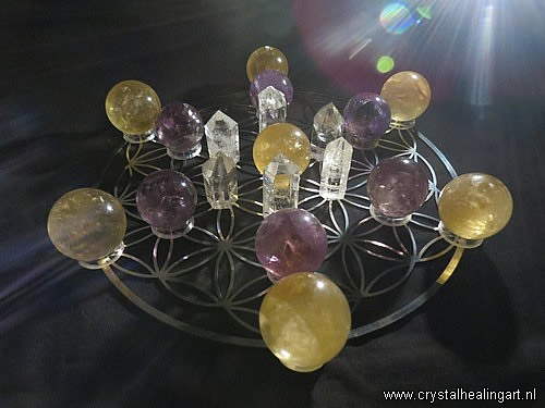 Flower of life Crystal Grid healing matrix