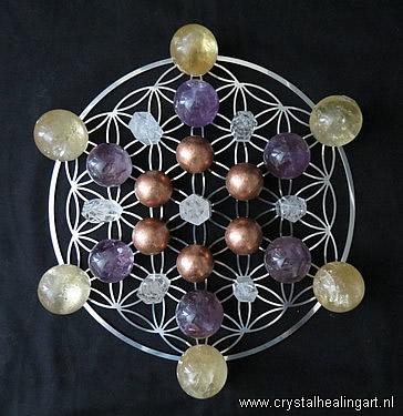 Flower of life crystal healing grid sacred geometry levensbloem heilige geometrie