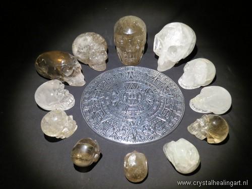 Lichtkring lichtcirkel kristallen schedels crystal skulls maya