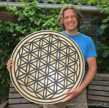 Niels Bagchus Flower of life sacred geometry crystal healing art