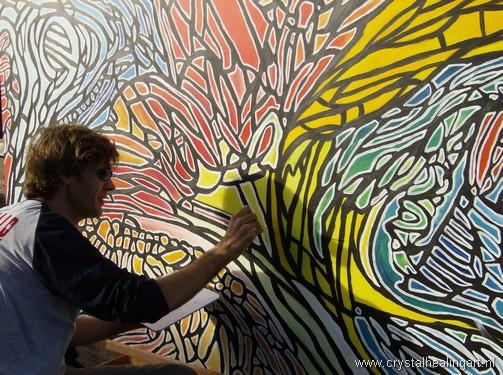 Niels Bagchus schilderen revalidatie creatieve therapie blixembosch revalidatiecentrum